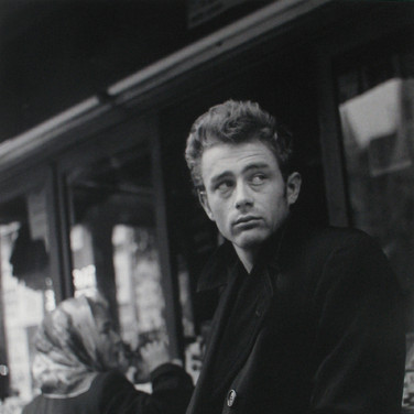 Roy Schatt [1909-2002]  James Dean in the street  photo 1954 [printed later]  gelatin silver print, edition of 65, signed, stamped  paper size > 20 x 16 inches  photo Roy Schatt CMG
