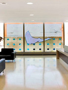 WARREN CARTHER  Untitled  Blue Cross Headquarters, Winnipeg, Canada  Carved glass wall  Height 9 ft. Length 15 ft.