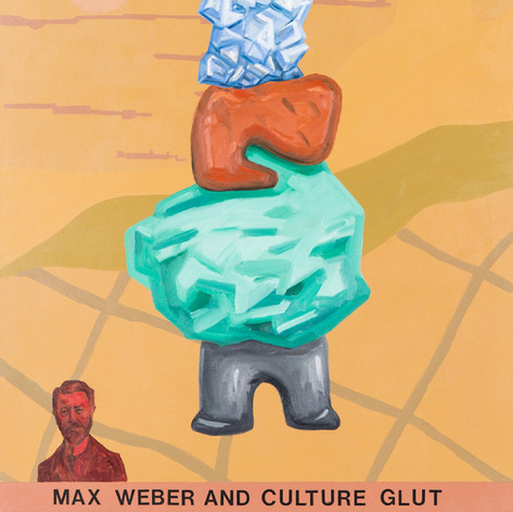 Ron Morosan Max Weber and Culture Clut, 2013 oil on canvas 42 x 34 inches