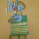 James Juthstrom (1925-2007) Untitled [Still Life], circa 2000s oil on board 22 x 19 inches