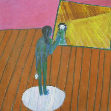James Juthstrom (1925-2007) Untitled, circa 1990s acrylic on canvas 65 x 65 inches