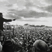 Jaques Lowe (1930-2001) John F. Kennedy, Kansas photo 1960 [printed later] gelatin silver print, signed paper size > 16 x 20 inches