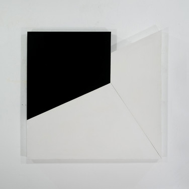 Charles Hinman Meeting Point, 1969 acrylic on shaped canvas 40 x 37.5 x 6 inches