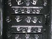 SID KAPLAN  Doorway, P.S. 190, New York City  1955 (Printed 1980's)  gelatin silver print  14 x 11 inches