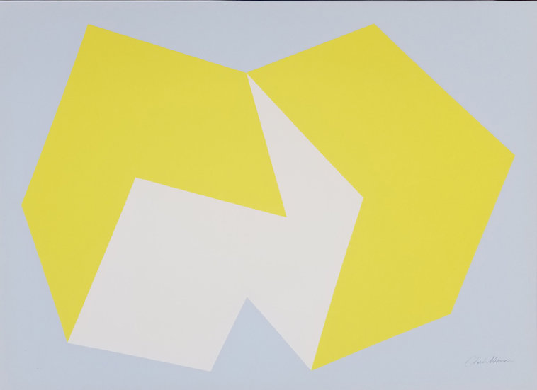 Charles Hinman - Yellow on Gray