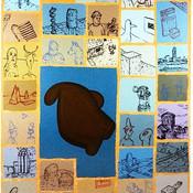 Ron Morosan Art Investigation, 2002 acrylic on canvas 70 x 60 inches
