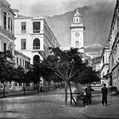 John Thomson (1837-1931)  The Clock-Tower, Hong Kong  circa 1868  gelatin silver print from the glass negative, edition of 350  16 x 20 inches, stamped