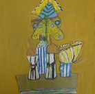 James Juthstrom (1925-2007) Untitled [Still Life], circa 2000s oil on board 24 x 18 inches