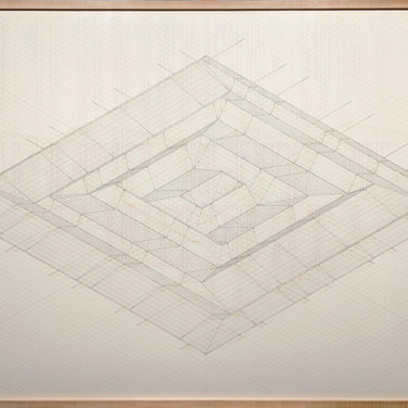 Will Insley (1929-2011) /Building/ No. 34, Channel Space 1248, Isometric, 1973-83 ink on ragboard 40 x 60 inches