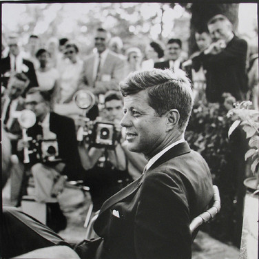 Jacques Lowe (1930-2001)  John F. Kennedy, Omaha, Nebraska, Labor Day Weekend  photo 1959 [printed later]  gelatin silver print, signed, stamped  paper size > 20 x 16 inches