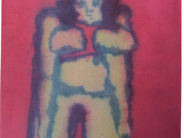 Boris Lurie (1924-2008)  Dismembered Women: Pinup, Unartistically Posed, c.1957  ink on canvas  13 x 9.25 inches