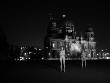 PETER SHAINDLIN  Zwei Frauen, Berliner Dom, 2016  digital image, semi-satin archival photographic paper, edition of 5  39 x 58 inches