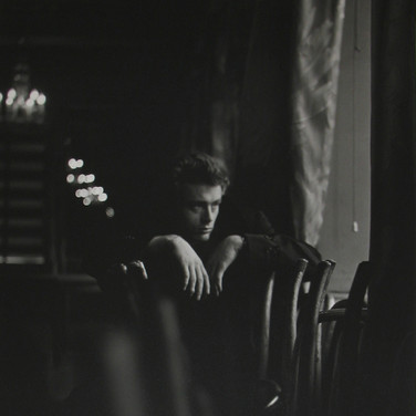 Roy Schatt [1909-2002]  James Dean on the set of 'The Thief', New York City  photo 1954 [printed later]  gelatin silver print, signed  paper size > 20 x 16 inches  photo Roy Schatt CMG