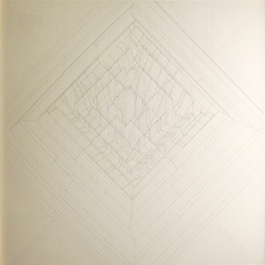 Will Insley (1929-2011) /Building/ No. 33 Passage Space Mountain Plan Oblique, 1973-83 ink on ragboard, 40 x 40 inches