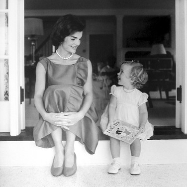 Jaques Lowe (1930-2001) Jackie Kennedy and Caroline, Hyannis Port, MA photo August 1960 [printed later] gelatin silver print, signed paper size > 20 x 16 inches