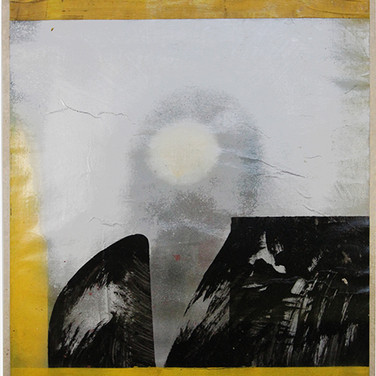 Boris Lurie (1924-2008) Altered Photo (Cabot Lodge), 1963 paint on paper mounted on canvas 38.5 x 32 inches