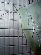WARREN CARTHER  Approach of Time, Lincoln House, Hong Kong  Detail  Dichroic glass  40 x 12 x 2 ft.