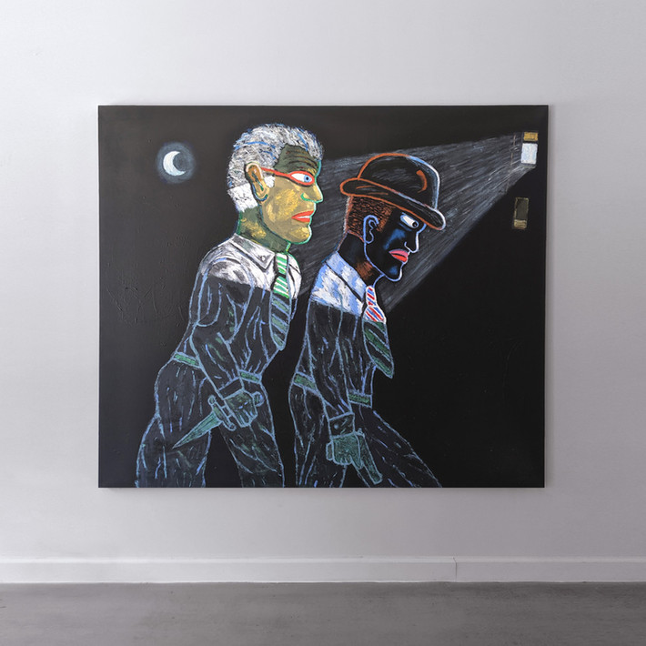 CARMEN CICERO The Prowlers, 1998 acrylic on canvas 72 x 84 inches | 182.9 x 213.4 cm