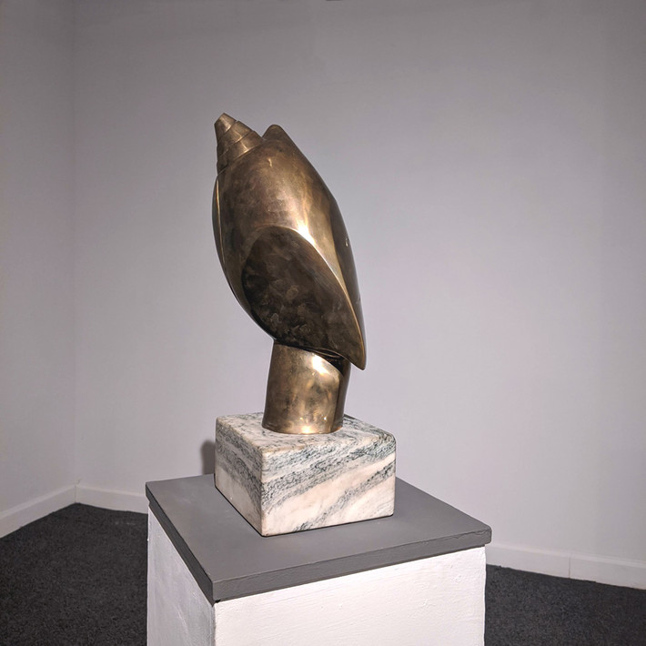 CONSTANTIN ANTONOVICI Mephistopheles, 1949  bronze on marble pedestal, edition of 9, signed  21 x 10 x 8 inches | 53.3 x 25.4 x 20.3 cm