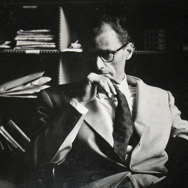 Roy Schatt [1909-2002] Arthur Miller Backstage at Circle in the Square photo 1953 vintage gelatin silver print mounted on rag board, signed, stamped paper size > 13 x 16 inches © Estate of Roy Schatt