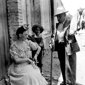 Leo Matiz (1917-1998) Frida Buying Cloth photo 1946 [printed 1997] gelatin silver print, edition of 41, signed 10 x 10 inches