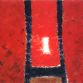 Herman Alfred Sigg  Within The Red III, 1990 acrylic on canvas,  70 x 40 inches