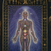 Alex Grey Chapel of Sacred Mirrors, 1980 acrylic on wood panel 126 x 60 x 5 inches