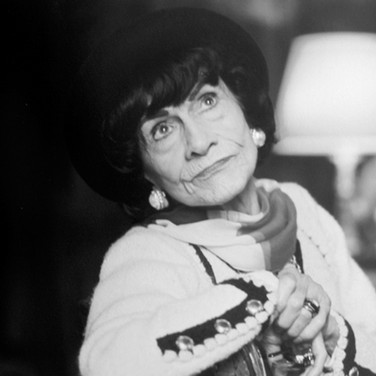 Coco Chanel at the House of Chanel, rue Cambon  photograph circa 1965 (printed 2007)  archival pigment print, AP, signed image size > 11 x 16.5 inches  Photograph by Hatami (1928-2017)