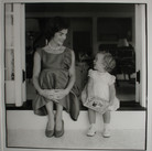 Jacques Lowe (1930-2001)  Jackie Kennedy and Caroline, Hyannis Port, MA  photo August 1960 [printed later]  gelatin silver print, signed  paper size > 20 x 16 inches