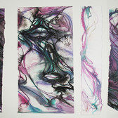 Charles Meyers [1934-2013]  Untitled [Purple Forms], circa 2000s  watercolor, ink on artist paper, signed 12 x 22 inches
