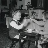 Princess Marianne Sayn-Wittgenstein-Sayn Glanegg. Fritz Mayr-Melnhof and Teresa Sayn-Wittgenstein during Christmas photo 1956 [printed later] Lambda print on Fuji Crystal paper, edition of 10, signed 22 x 22 inches