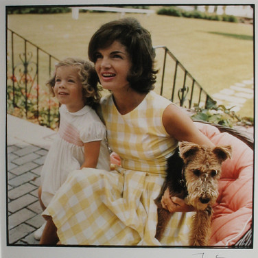 Jacques Lowe (1930-2001)  Jackie Kennedy and Caroline, Hyannis Port, MA  photo summer 1961 [printed later]  C-print, signed  paper size > 20 x 16 inches