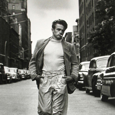 Roy Schatt [1909-2002] James Dean walking, W 68th Street photo 1954 [printed later] gelatin silver print, edition of 65, signed, stamped paper size > 20 x 16 inches photo Roy Schatt CMG
