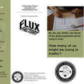Chloe Bass,  Traffic Disruption Village, 2013 double sided tri-fold pamphlet on cardstock