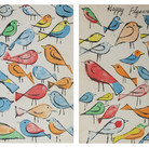 Andy Warhol  Happy Flyaway Days circa 1963  offset lithograph on manila folder  Authenticated by AWAAB  13 x 19 inches