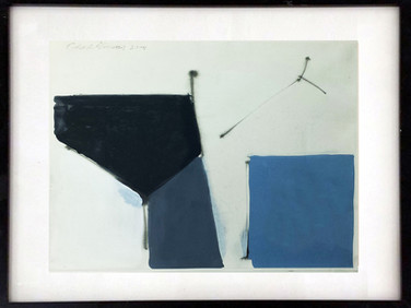 CHARLES HINMAN (b. 1932)  Untitled #6, 2003  acrylic wash on paper  14 x 11 inches