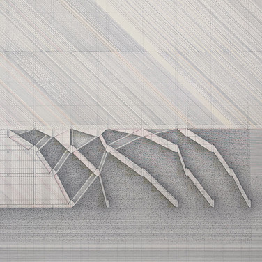 Detail of Will Insley, /Building/ No. 41, Volume Space, Interior Swing Section Through, 1973-81