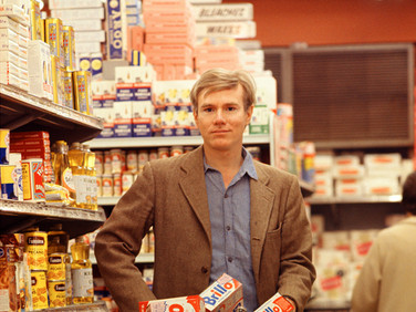 Bob Adelman (1930-2016)  Andy Warhok in Gristedes Supermarket, New York City photograph 1965 (printed later)  archival pigment print on Kodak paper, edition of 50 stamped by the Bob Adelman estate paper size > 20 x 16 inches