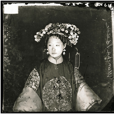 John Thomson (1837-1931)  Manchu Bride, Peking  photograph circa 1871-1872 [printed later]  gelatin silver print, edition of 350, stamped 16 x 20 inches