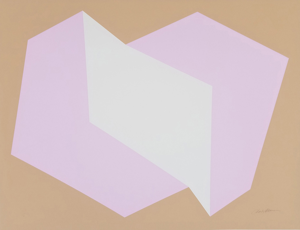 CHARLES HINMAN Lavender on Tan, 1972  silkscreen on embossed paper, edition of 200, signed, stamped Paper Size: 25.5 x 34.25 inches | 64.8 x 87.0 cm Unframed