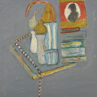 James Juthstrom (1925-2007) Untitled [Still Life], circa 2000s oil on board 17 x 22 inches