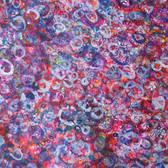 James Juthstrom [1925-2007] Detail of Untitled [Purple & Blue], circa 1960s mixed media on artist paper, 28 x 20 inches