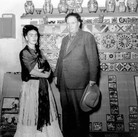 Leo Matiz (1917-1998)  Frida Kahlo & Diego Rivera, Coyoàcan, Mexico photo 1944 [printed 1997]  selenium toned gelatin silver print, edition of 41, signed 10 x 10 inches