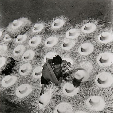 Leo Matiz (1917-1998)  Palm Hats, Mexico, 1945 gelatin silver print  10 x 10 inches