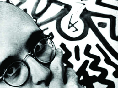 CLAUDIO ELISABETSKY  Keith Haring, New York  1983  gelatin silver print  20 x 16 inches