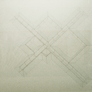 Will Insley (1929-2011) /Building/ No. 27 Stage Space Cluster, Plan Oblique, 1971-83 ink on ragboard, 40 x 40 inches