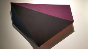 CHARLES HINMAN (b. 1932)  Black Pearl, 2013  acrylic on shaped canvas  38 x 45 x 7 inches