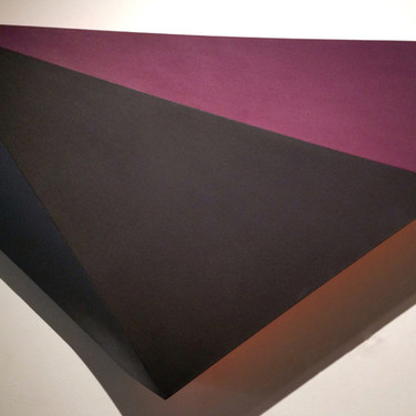 CHARLES HINMAN (b. 1932)  Black Pearl, 2013  acrylic on shaped canvas  38 x 45 x 7 inches