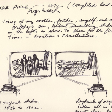 Roger Welch Study for Welch (Film) Installation, 1972 ink on artist paper