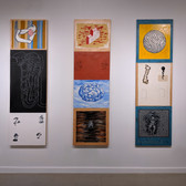 Installation view of Miriam Bloom & Ron Morosan: IN-TER-WO-VEN